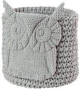 Baby Essentials Wee Woodland Crochet Bin (Grey Owl)