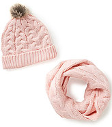 Copper Key Cable-Knit Infinity Scarf & Hat Set