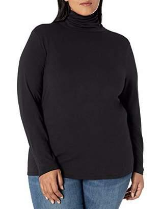 Amazon Essentials Plus Size Long-sleeve Turtleneck T-Shirt