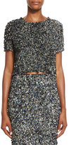 Haute Hippie Mosaic Sequin-Embellished Top, Multi