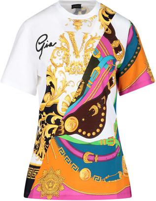 Versace Print Patchwork T-shirt