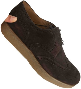 Louis Vuitton Brown Suede Lace ups