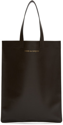 Comme des Garçons Wallets Brown Leather Classic Tote