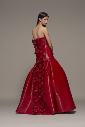 Isabel Sanchis Bergolo Strapless Gown