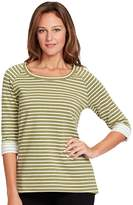 Gloria Vanderbilt Women's Striped French Terry Tee