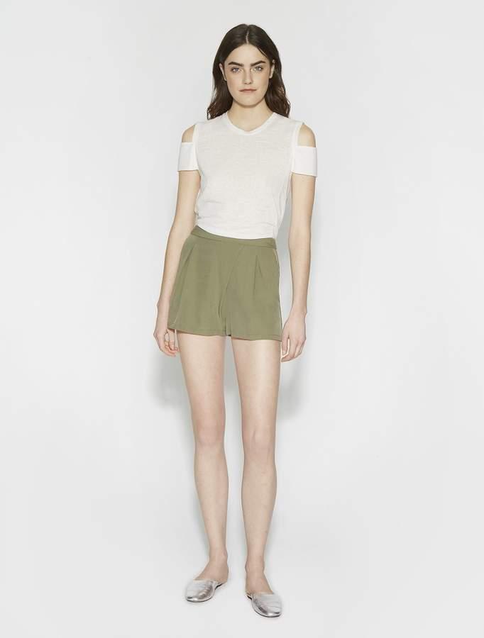 Halston Flowy Twill Shorts
