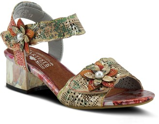 Spring Step L'Artiste By Metallic Leather Sandals - Freeform