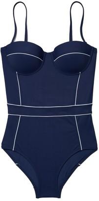 Tory Burch Lipsi Contrast-Trim One-Piece Swimsuit