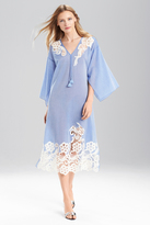 Josie Natori Cotton Voile With Lace Caftan