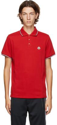 Moncler Red Pique Polo