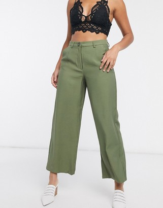 Object cropped length pants co ord in burnt olive