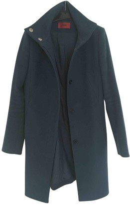 HUGO BOSS Blue Wool Coat for Women