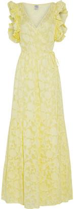 Baum und Pferdgarten Aiza Ruffle-trimmed Fil Coupe Silk-blend Maxi Wrap Dress