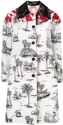 No.21 Palm Trees Coat