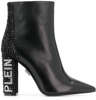 Philipp Plein Crystal Heel Boots