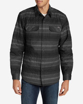 Eddie Bauer Men's Eddie's Favorite Flannel Quilted Shirt Jacket