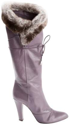 Marc Jacobs \N Purple Leather Boots