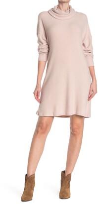 Angie Cowl Neck Balloon Sleeve Dress