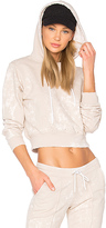 Cotton Citizen The Milan Cropped Pullover Hoodie in Beige. - size L (also in XS)