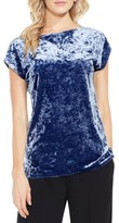 Vince Camuto Petite Women's Crushed Velvet Knit Tee