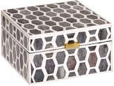 "Mela Artisans Gramercy Box - Gray/White 6"""