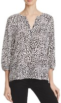 Joie Addie B Animal Print Silk Blouse