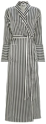 Olivia von Halle Capability Stripe Print Robe