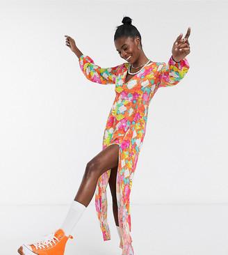 ASOS MADE IN KENYA maxi dress in neon tye dye