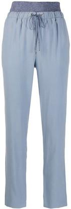 D-Exterior Drawstring Waist Trousers