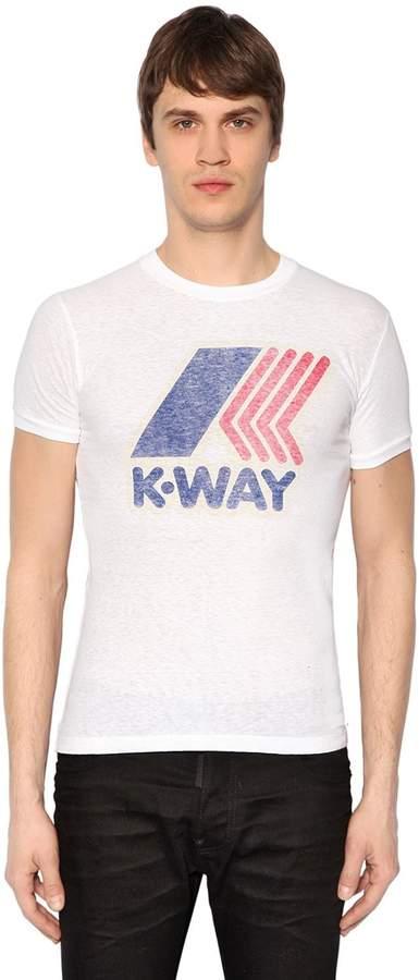 DSQUARED2 K-Way Printed Cotton Jersey T-Shirt