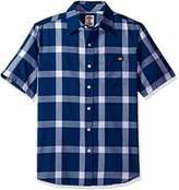 Dickies Men's Regular Fit Short Sleeve Single Pocket Plaid Shirt