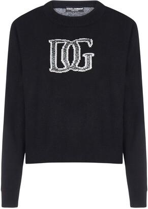 Dolce & Gabbana Logo Intarsia Crewneck Jumper