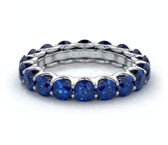 The Eternal Fit 14K 4.25 Ct. Tw. Sapphire Eternity Ring