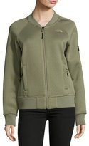 The North Face Kelana Embossed Fleece Bomber Jacket, Deep Lichen Green