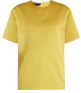 Rochas Short-sleeved duchess-satin top