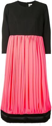 Comme des Garcons Colour-Block Gathered Dress
