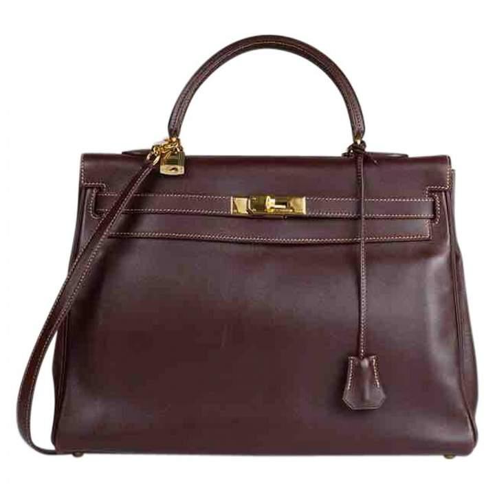 Hermes Kelly leather crossbody bag