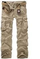 CRAZY Men's Woodland Military Cargo Outdoors Pants Combat Trousers [Apparel]