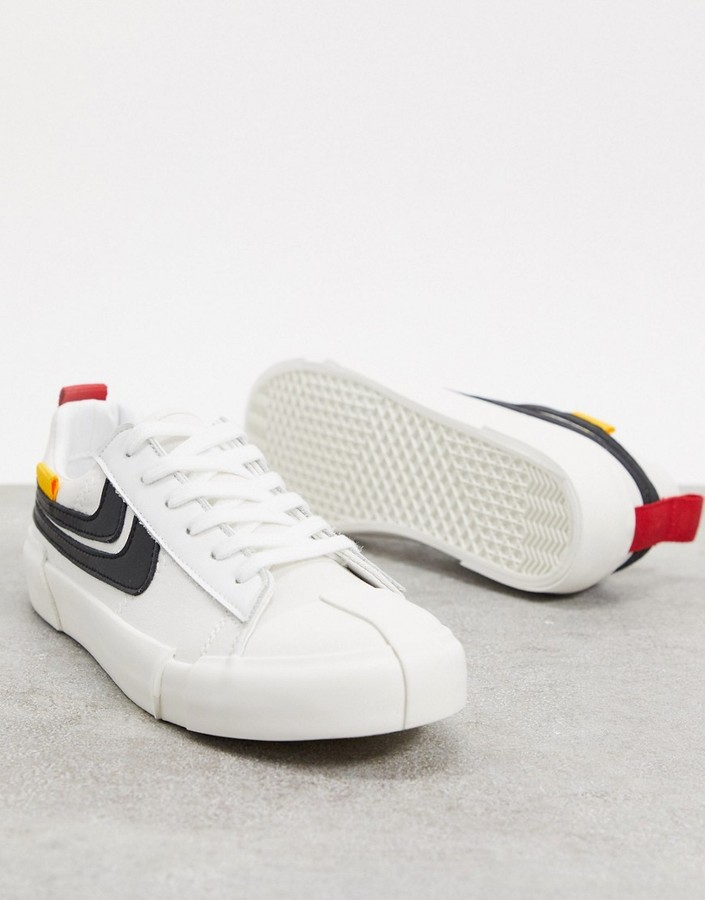 Thumbnail for your product : Joshua Sanders low top trainer in white and black