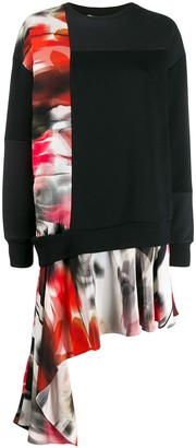 Alexander McQueen Asymmetric Sweatshirt Dress