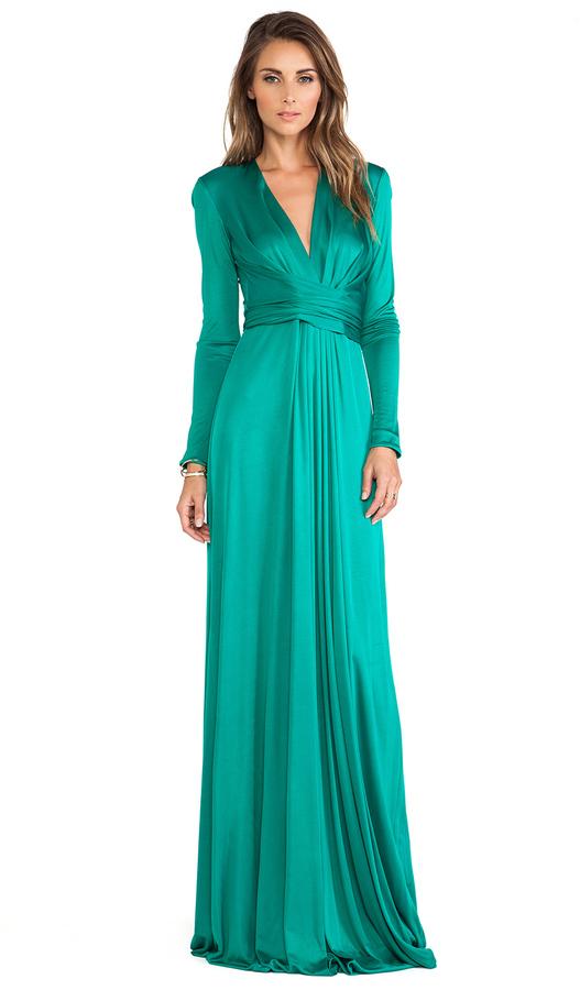 Issa Florence Long Sleeve Maxi Dress