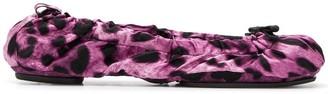 Dolce & Gabbana Leopard Print Ballerinas