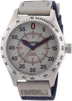 Superdry Men's 49mm Blue Cloth Band Steel Case Quartz Dial Analog Watch SYG122E
