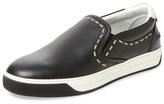 Fendi Leather Slip-On Sneaker