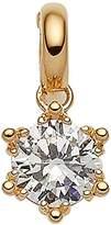 Viventy Women's Charm Gold-Plated Rhodium-Plated White Zirconia - 767392