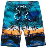 """YoungSoul Men's Surf Board Shorts Pixel Scenic Printed Swim Trunks 21"""" US M"""