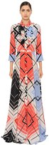 Capucci Printed Silk Crepe De Chine Shirt Dress