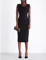 Roland Mouret Ruffled fitted lace dress
