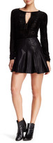 Free People About A Girl Faux Leather Mini Skirt