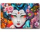 "Japanese Art Geisha Girl Psychedelic Mat Floor Mat Door Mat Neoprene Rubber Non Slip Backing Machine Washable (23.6""x15.7"",L x W)"